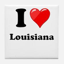 I Heart Love Louisiana.png Tile Coaster