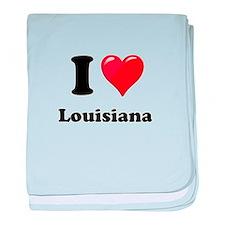 I Heart Love Louisiana.png baby blanket