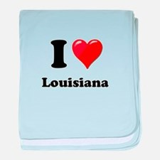I Heart Love Louisiana.png baby blanket