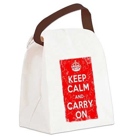 Keep Calm, Vintage, Canvas Lunch Bag