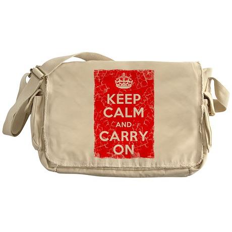 Keep Calm, Vintage, Messenger Bag