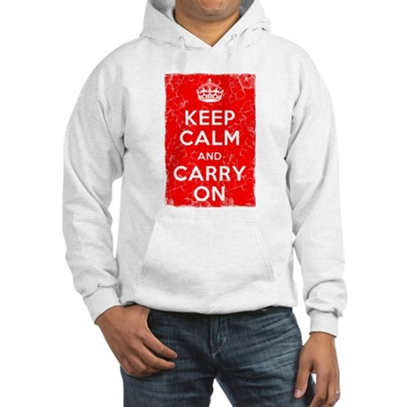 Keep Calm, Vintage, Hooded Sweatshirt