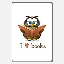 Book Owl I Love Books Banner