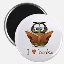 "Book Owl I Love Books 2.25"" Magnet (10 pack)"