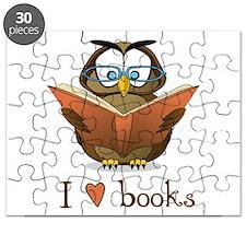 Book Owl I Love Books Puzzle