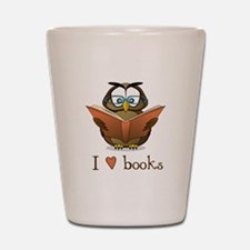 Book Owl I Love Books Shot Glass