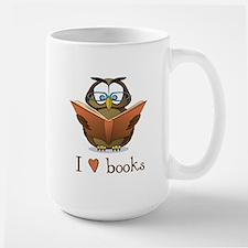 Book Owl I Love Books Large Mug