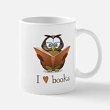 Book Owl I Love Books Small Small Mug