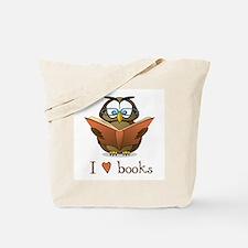Book Owl I Love Books Tote Bag