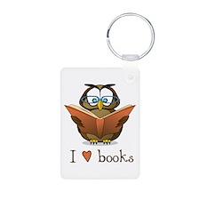 Book Owl I Love Books Keychains