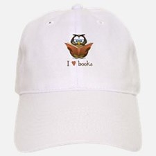 Book Owl I Love Books Baseball Baseball Cap