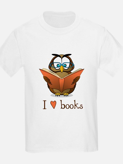 Book Owl I Love Books T-Shirt
