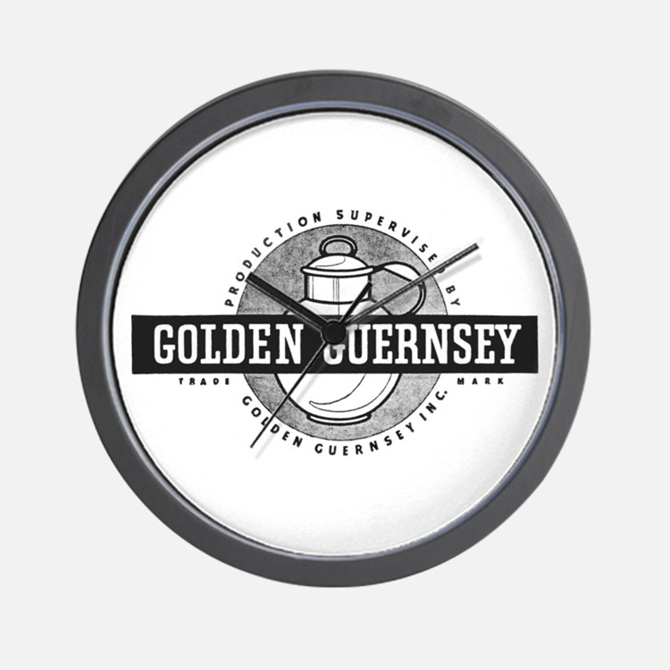 B&W Golden Guernsey Wall Clock