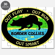 Border Collie Out Play Puzzle
