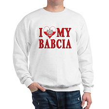 I Heart My Babcia Sweatshirt