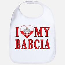 I Heart My Babcia Bib