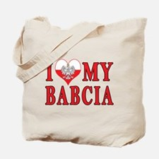 I Heart My Babcia Tote Bag