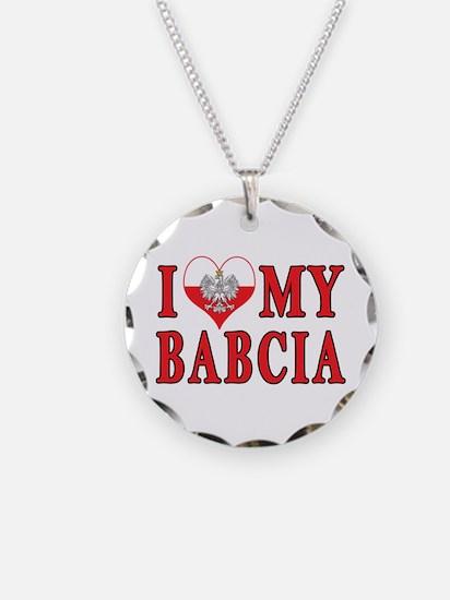 I Heart My Babcia Necklace