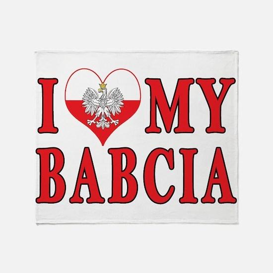 I Heart My Babcia Throw Blanket