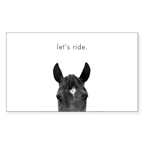 Let's Ride print by Ed Wood Oval Sticker (10 pk) S