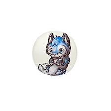 Cute Wolf puppy Mini Button (10 pack)