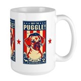 Puggle mug Large Mugs (15 oz)