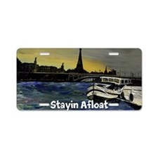 Stayin Afloat Aluminum License Plate