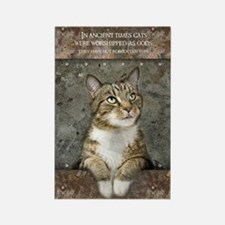 Ancient Cat Rectangle Magnet