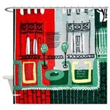 Paris shower curtains Shower Curtains