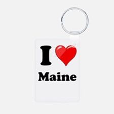 I Heart Love Maine.png Keychains