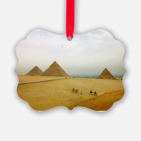 Egyptian Pyramids and Camels, Giza Ornament