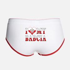 I Heart My Babcia Flag Women's Boy Brief