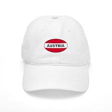 Austrian Oval Flag on Baseball Cap