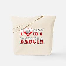 I Heart My Babcia Flag Tote Bag