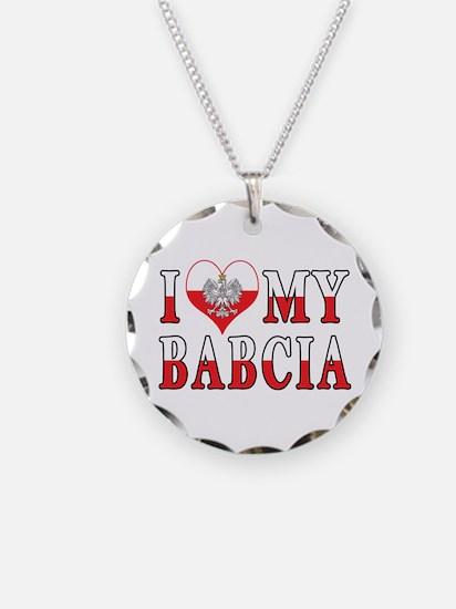 I Heart My Babcia Flag Necklace