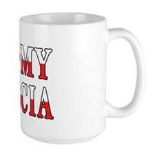 I Heart My Babcia Flag Mug