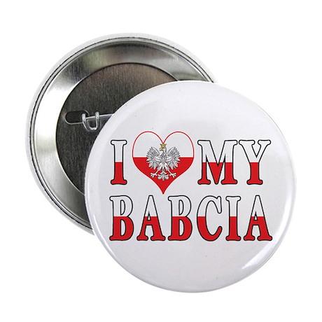 "I Heart My Babcia Flag 2.25"" Button"