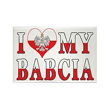 I Heart My Babcia Flag Rectangle Magnet