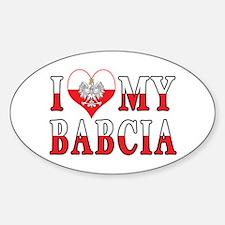 I Heart My Babcia Flag Decal