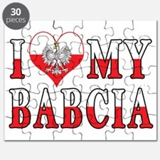 I Heart My Babcia Flag Puzzle