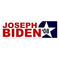 Joseph Biden '08 star bumper sticker