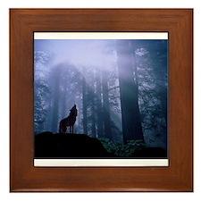 Howling Wolf Framed Tile