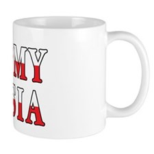 I Heart My Busia Flag Mug
