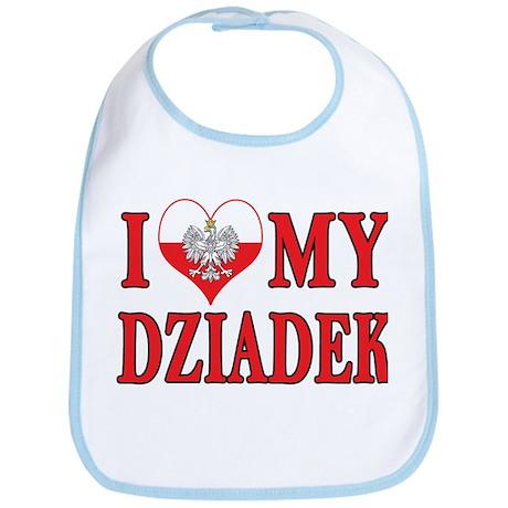 I Heart My Dziadek Bib