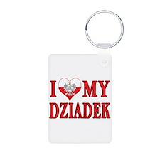I Heart My Dziadek Keychains