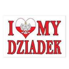 I Heart My Dziadek Postcards (Package of 8)