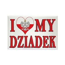 I Heart My Dziadek Rectangle Magnet