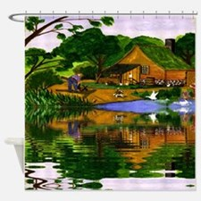 Time Past Shower Curtain