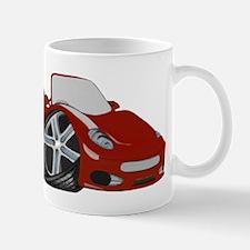 Red Cartoon Race Car Art Mug