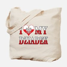 I Heart My Dziadek Flag Tote Bag